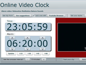 Online Video Clock Screenshot
