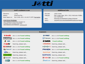 Jotti Screenshot
