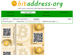 Bitaddress.org Screenshot