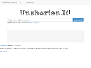 Unshorten.It! Screenshot
