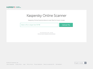 Kaspersky Online Scanner Screenshot