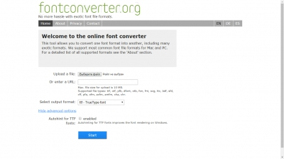 FontConverter.org Screenshot