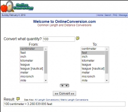 Online Conversion Screenshot
