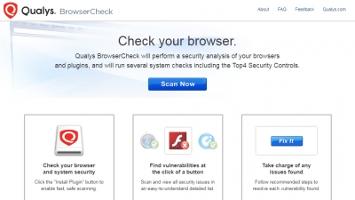 Qualys BrowserCheck Screenshot