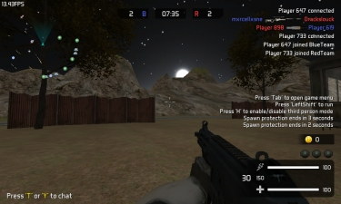 Warmerise: Red vs. Blue Screenshot